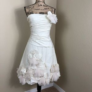 BCBGMaxazria Ivory Bridal Cocktail Dress 10
